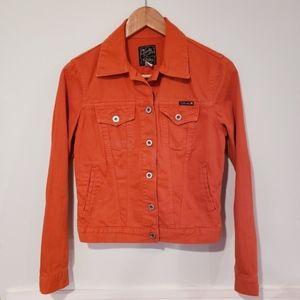 Lucky Brand Orange Jean Jacket